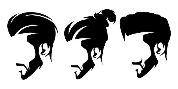 Шаблон логотипа бороды парикмахера
