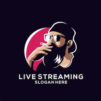 Beard logo for live streaming