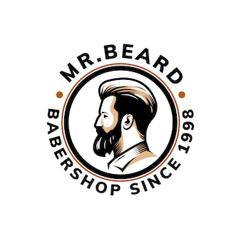 Beard logo template design