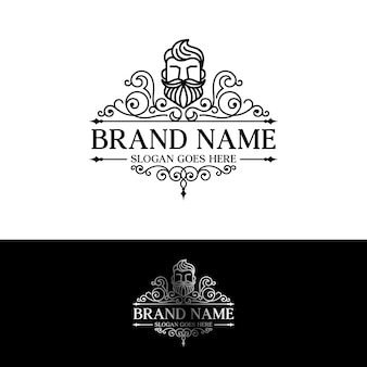 Beard logo template