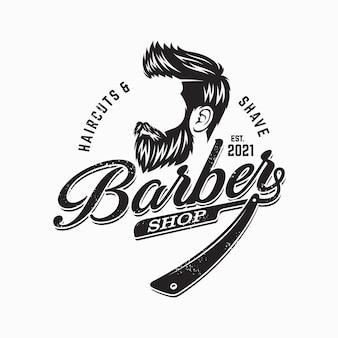 Борода человек дизайн логотипа иллюстрации