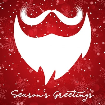 Beard of santa claus on a red background