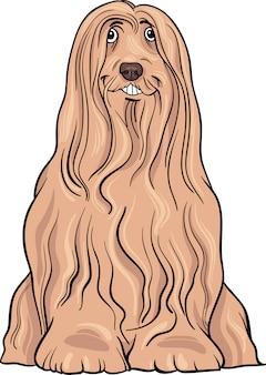 Бородатый колли собака мультфильм иллюстрации