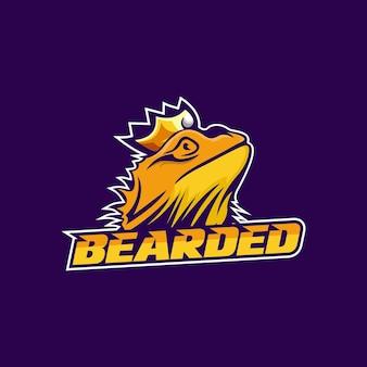 Bearded dragon logo