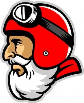 Bearded rider mascot head