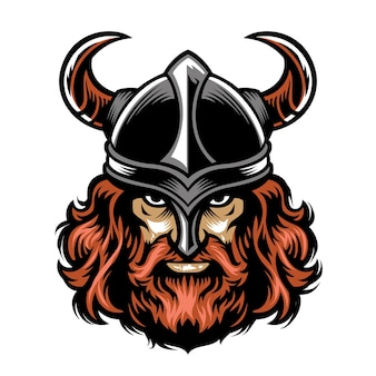 Bearded viking warrior head
