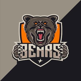 Bears esport дизайн логотипа