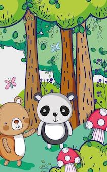 Медведи в лесу рисуют мультфильмы
