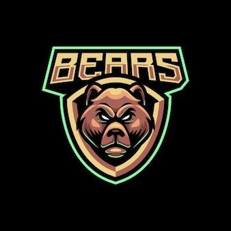 Дизайн логотипа талисмана медведя