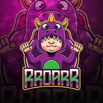 Дизайн логотипа талисмана зверя киберспорта