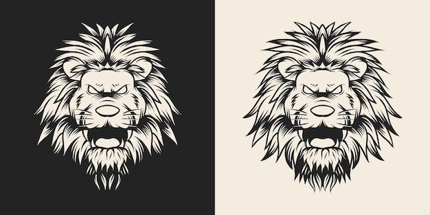獣獅子頭イラストデザイン