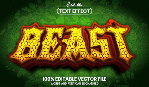 Beast text, font style editable text effect