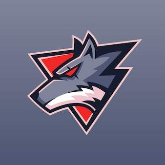 Beast wolf team logo design