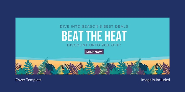 Beat the heat cover page template