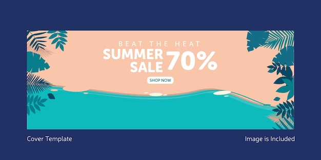 Beat the heat summer sale cover page template