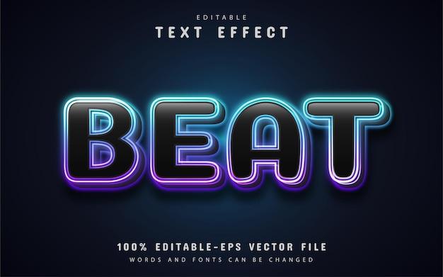Beat text, editable neon text effect