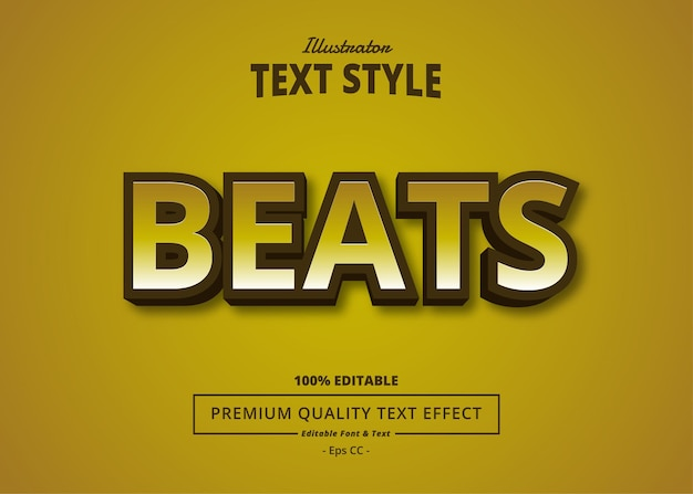 Beats illustrator text effect