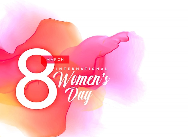 Beauful women's day background with vibrant watercolor effect