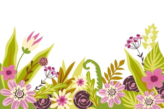 Bellissimo e creativo design di carta da parati floreale