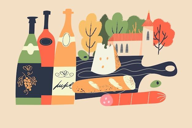 フランスの新ワインのボージョレヌーボーフェスティバル
