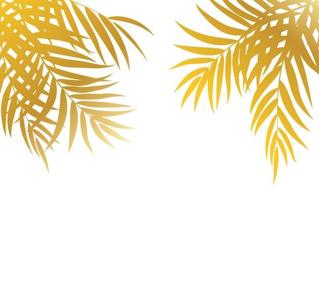Beautifilヤシの木の葉のシルエットの背景ベクトルイラストeps10