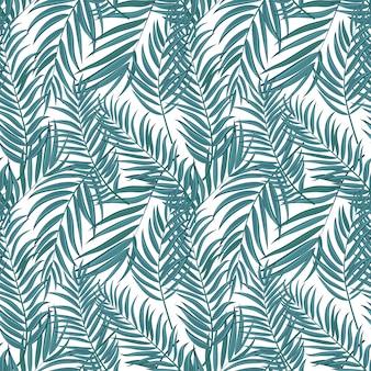 Beautifil пальмовых листьев силуэт бесшовный фон фон векторные иллюстрации eps10
