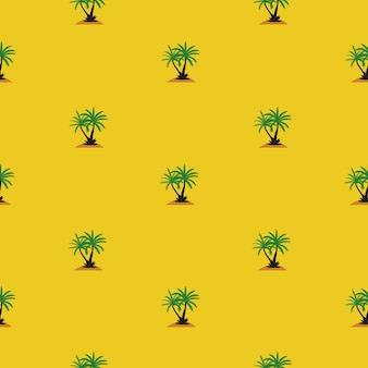 Beautifil palm tree leaf  silhouette seamless pattern background .