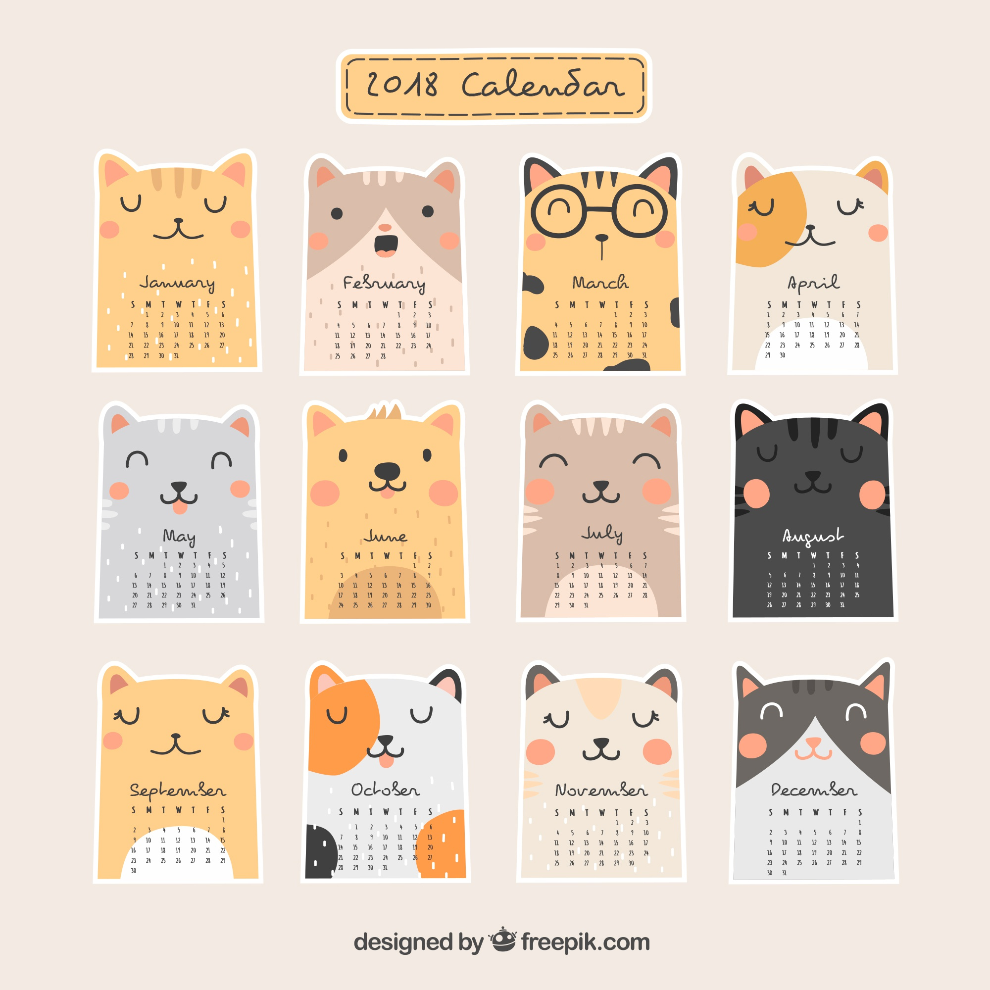 Beautiful 2018 calendar