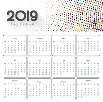 Beautiful 2019 business calendar design