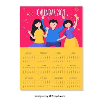 Beautiful 2019 calendar concept