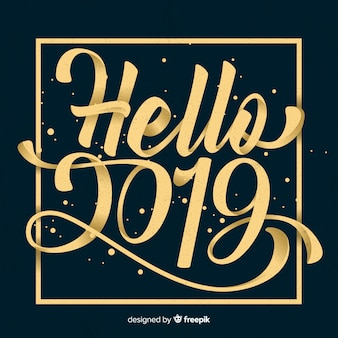 Beautiful 2019 lettering background
