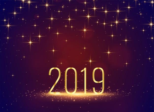 Beautiful 2019 sparkles stars celebration background