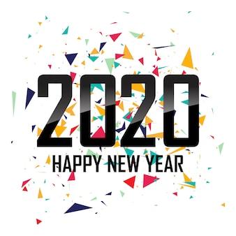 Красивая новогодняя открытка 2020 года
