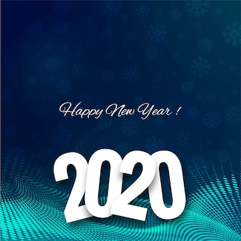 Beautiful 2020 new year text celebration festival card