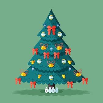 美しい2dクリスマスツリーのコンセプト