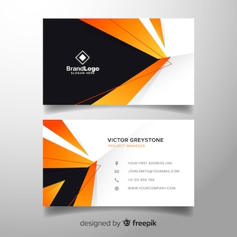 Beautiful abstract business card template