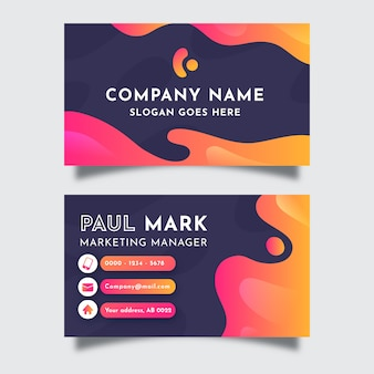 Beautiful abstract business card