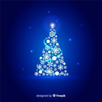 Beautiful abstract christmas tree