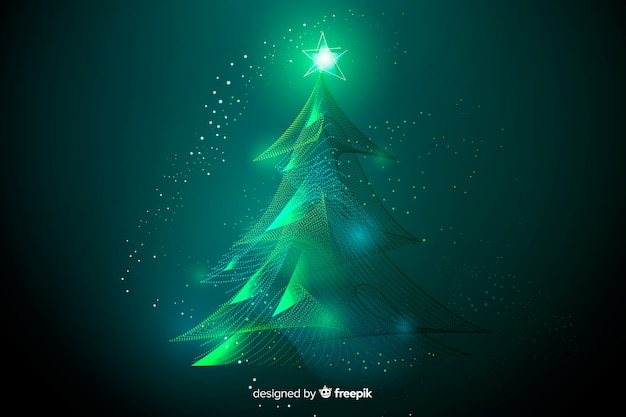 Beautiful abstract christmas tree