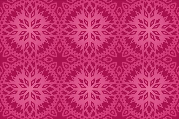 美しい抽象的なカラフルなピンクのタイルのシームレスなパターン