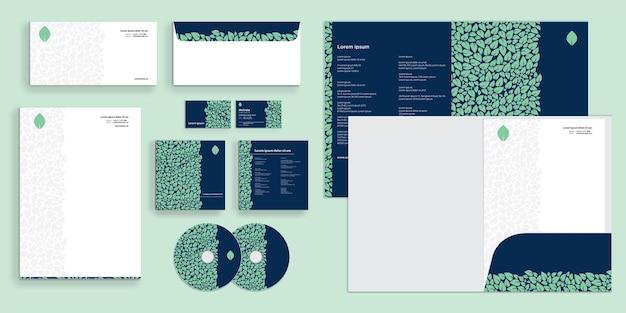 美しい抽象的な葉のパターン現代の企業のビジネスアイデンティティ静止