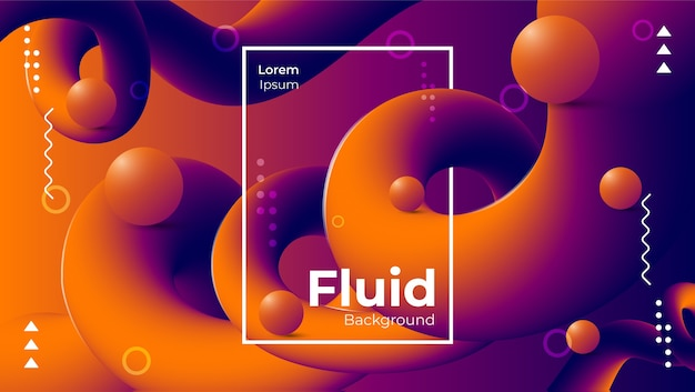 Beautiful abstract modern fluid background