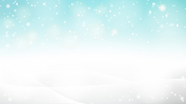 Beautiful abstract snowy bokeh background for winter or christmas