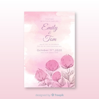Beautiful abstract wedding invitation template