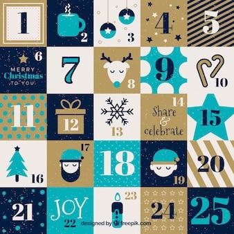 Красивый календарь приключений на рождественский сезон