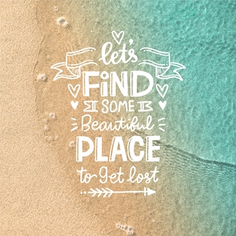 Beautiful adventure travel lettering