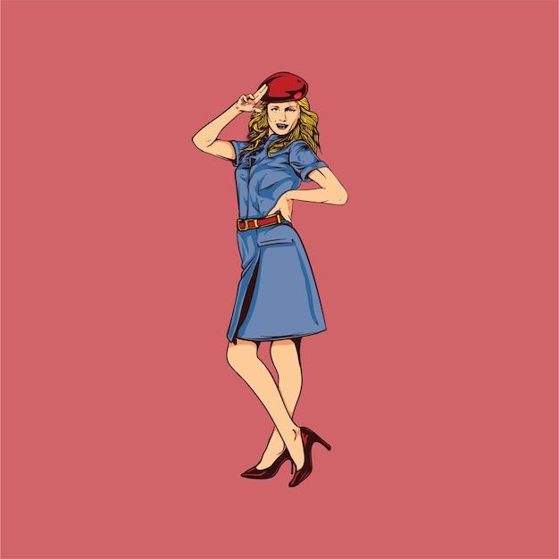 Beautiful air hostess