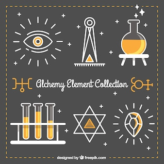 Beautiful alchemy element collection