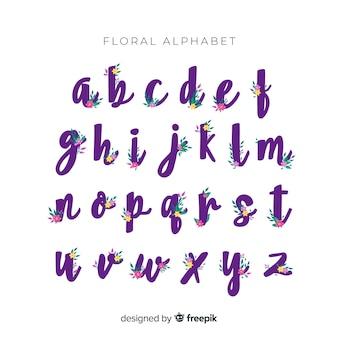 꽃과 함께 아름 다운 알파벳