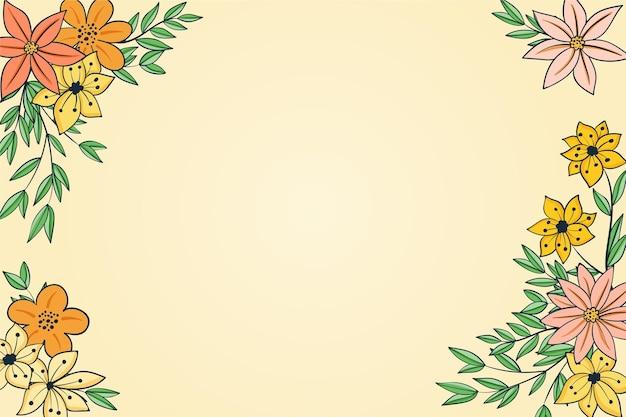 美しく繊細な花のフレームの背景